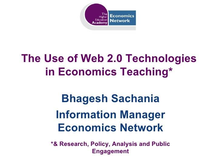 Sachania Web 2.0 Economics Teaching