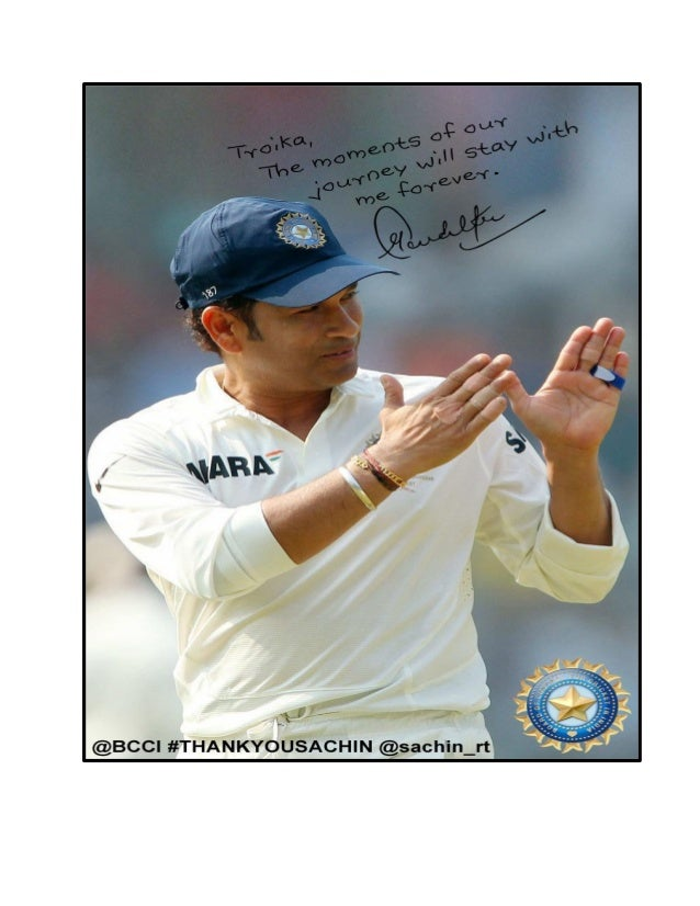 Sachin Tendulkar's 200th Test - Troika Management Fan Pic!