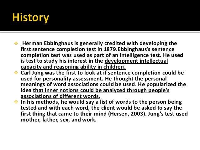 sacks sentence completion test Ssct - sack's sentence completion test looking for abbreviations of ssct it is sack's sentence completion test sack's sentence completion test listed as ssct.