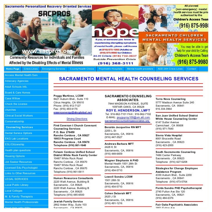Home Page        Crisis Lines   Em ergency Services     County Health Clinics   Psychiatric Hospitals   Mental health prov...