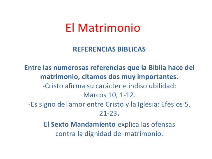 Matrimonio Entre Hermanos Biblia : Sacramento del matrimonio