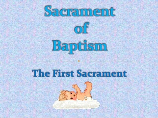 The First Sacrament