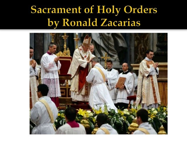 Holy Orders is a sacrament through which men aremarked with an indelible character and constitutedSacred ministers-bishops...