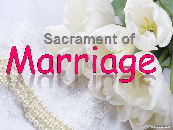 the sacrament of marriage The bishops reaffirmed their strong support for marriage and the family by identifying strengthening  and inspire catholics to embrace the sacrament of.