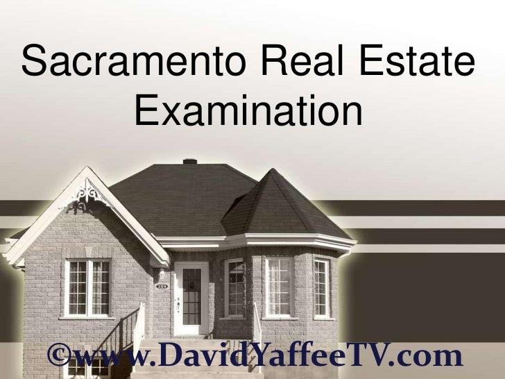 Sacramento Real Estate Examination