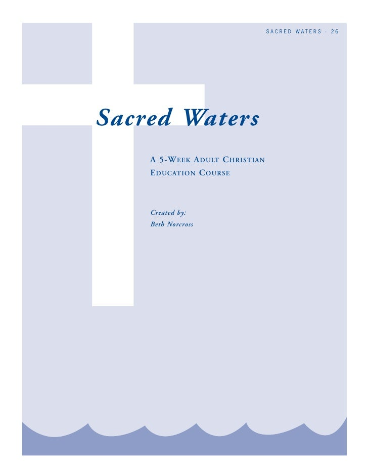 Stewards of the Bay: Sacred Waters - A 5 Week Study Course