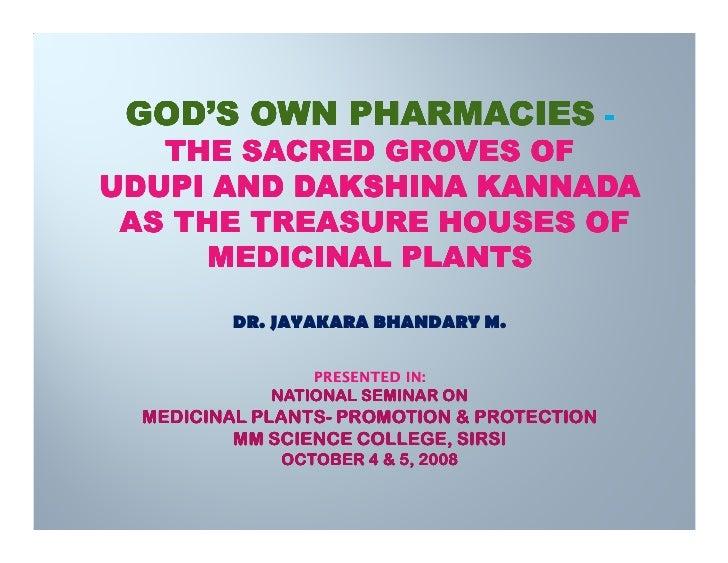 Sacred groves of karnataka, india