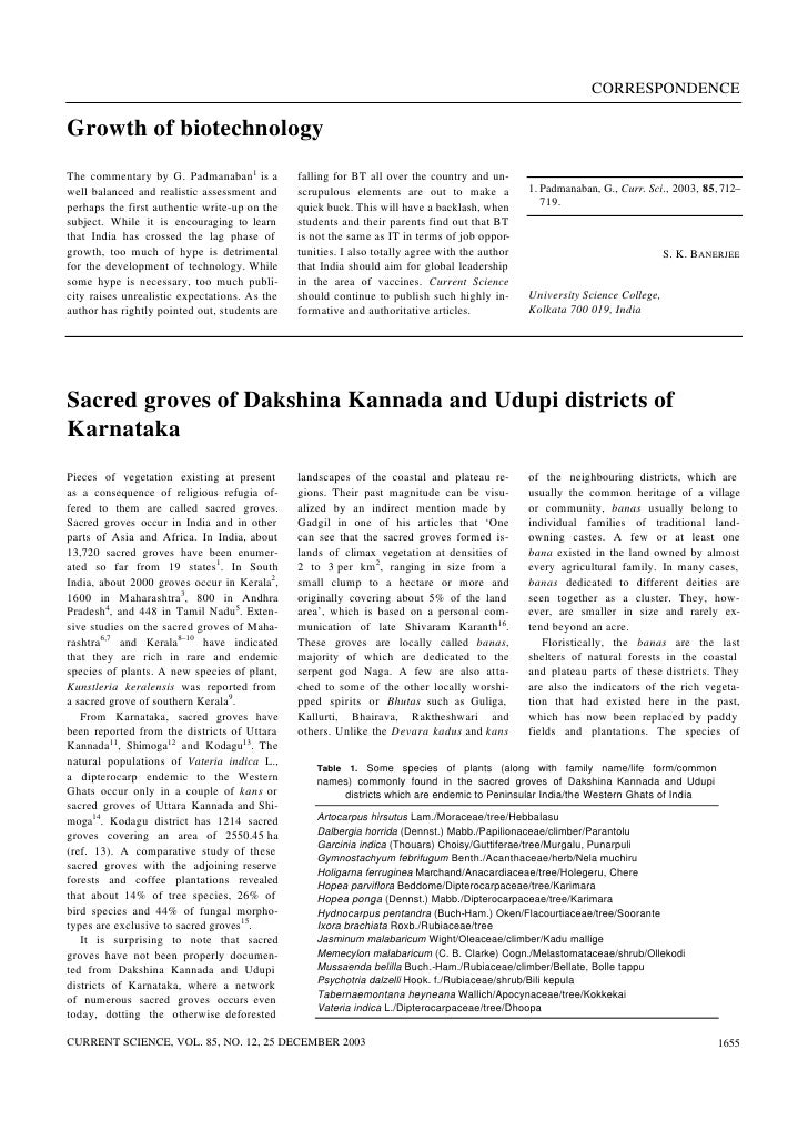 Sacred groves of udupi and dakshina kannada