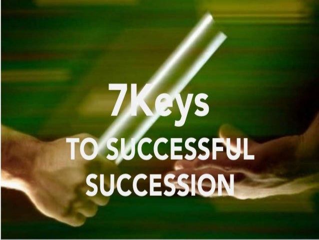 Sacrificial transition = successful succession