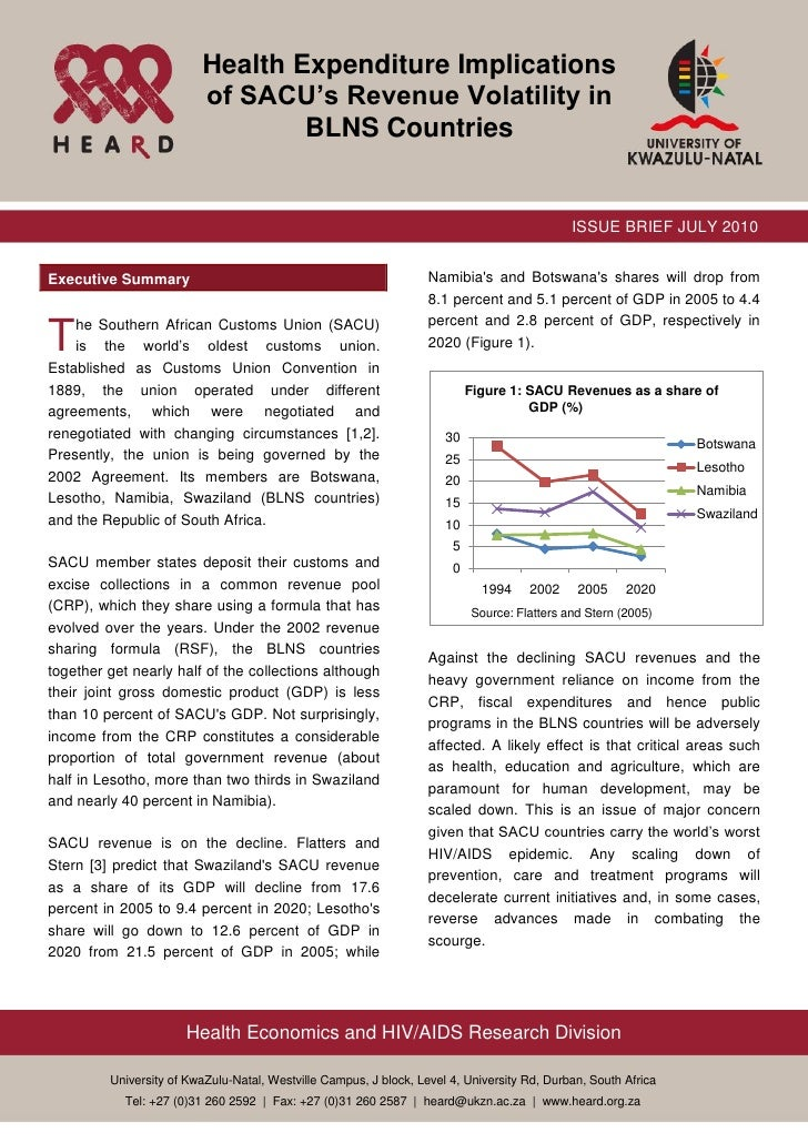 Health Expenditure Implications of SACU's Revenue Volatility in BLNs Countries policy brief_final_june_30[1]