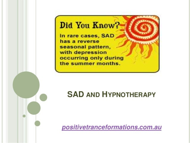 Sad and hypnotherapy