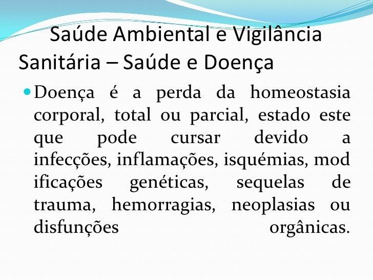 SaúDe Ambiental E VigilâNcia     SanitáRia – SaúDe[1]
