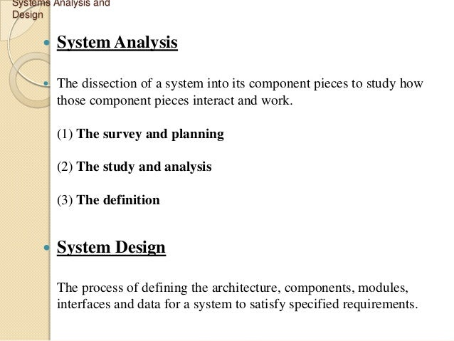 system analysis and design case study answers Extending and evaluating a case study exercise in a systems analysis and design course arpan jani department of computer science and information systems.