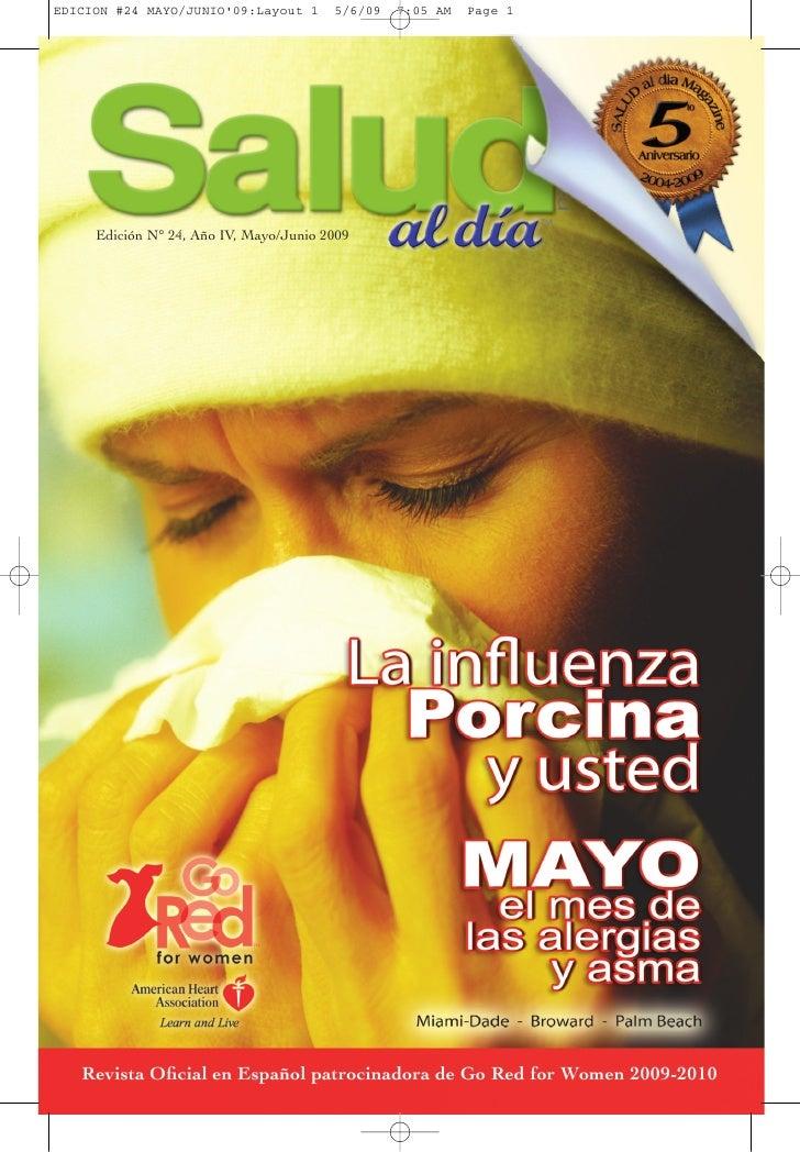 SALUD al dia magazine, Edicion #24 Año IV, Mayo Junio 2009