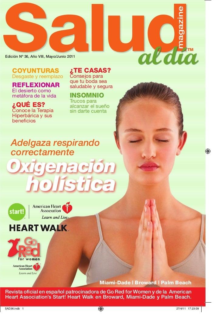 SALUD al dia magazine, Edicion # 36, Año VII, May Jun 2011