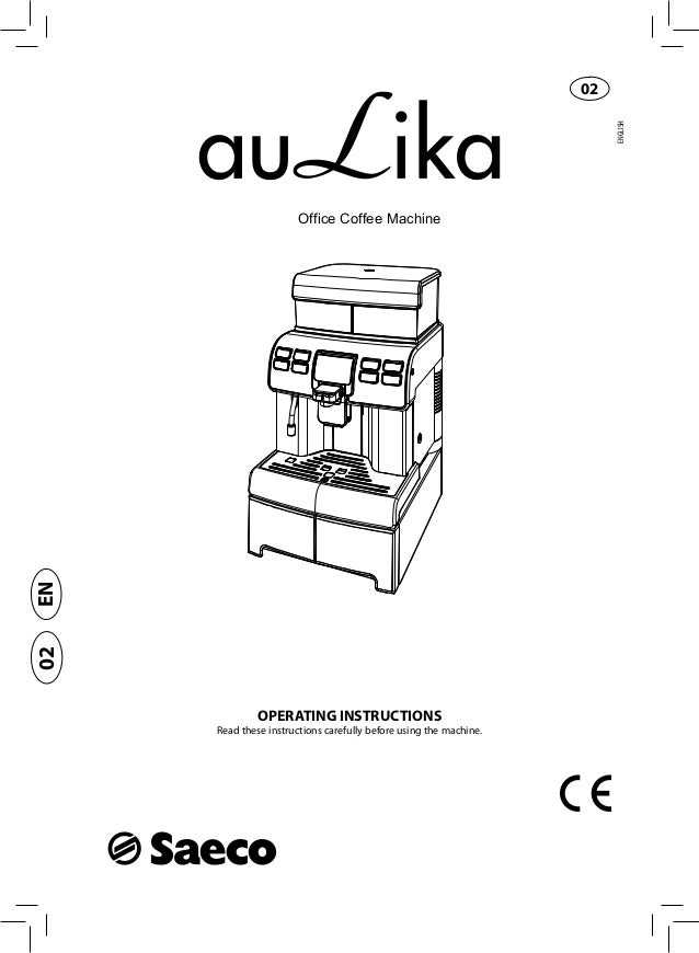 Saeco aulika user manual