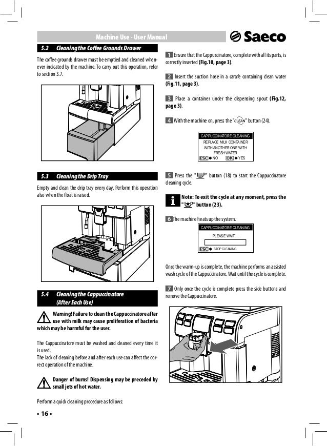 Saeco Coffee Maker Owner S Manual : Saeco aulika user manual