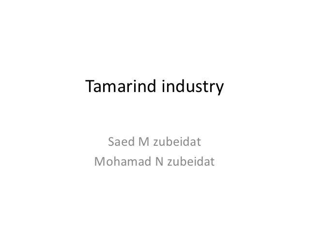 Tamarind industry  Saed M zubeidat Mohamad N zubeidat