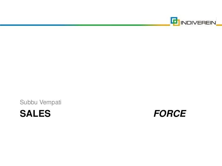 Sales For Start-ups By Subbu Vempati