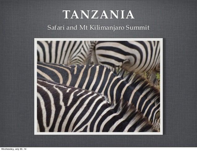 Safari and climb