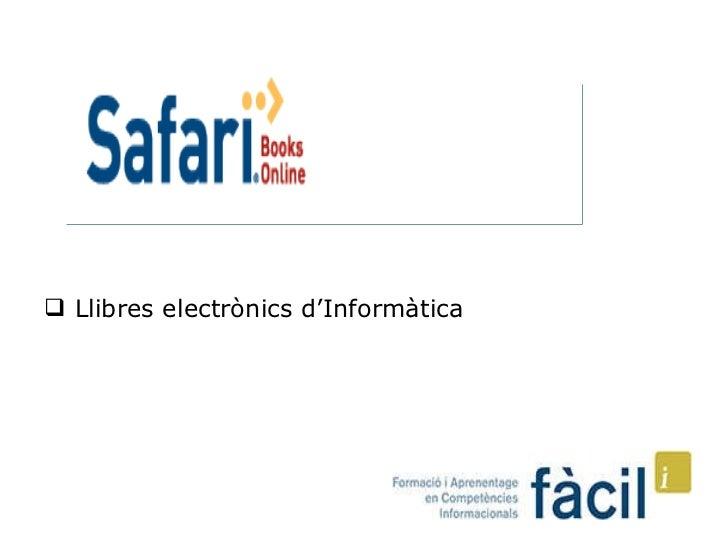 <ul><li>Llibres electrònics d'Informàtica  </li></ul>