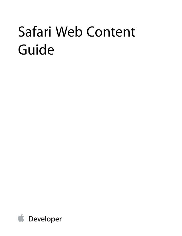 Safari Web Content Guide