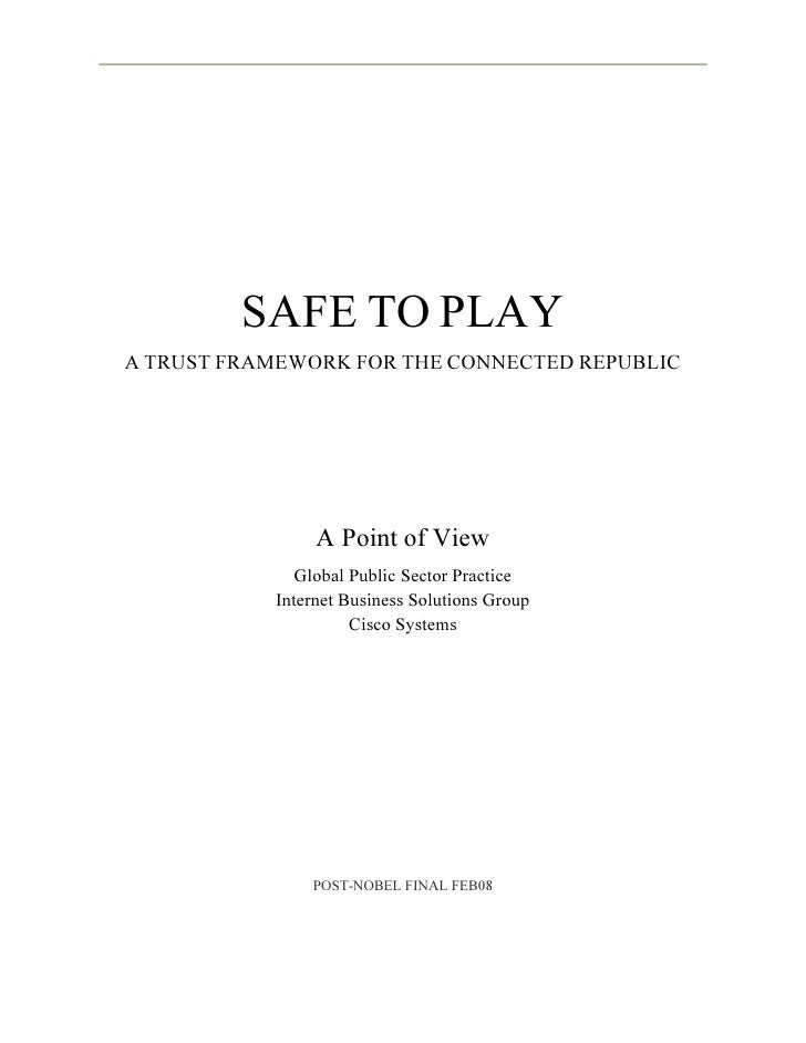 Safe To  Play Whitepaper