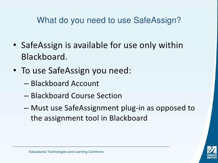 Safe assignment percentage