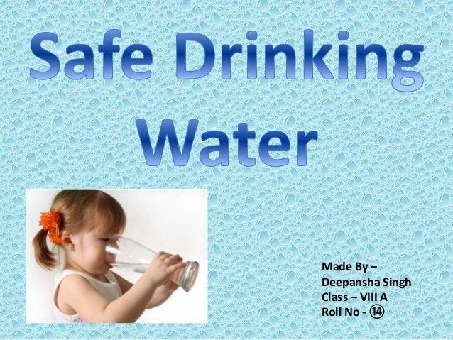 unsafe drinking water essay