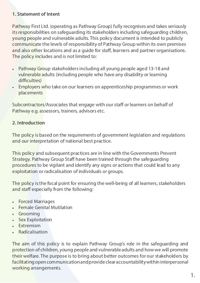 safeguarding policy essay