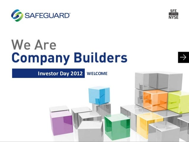 WELCOMEInvestor Day 2012