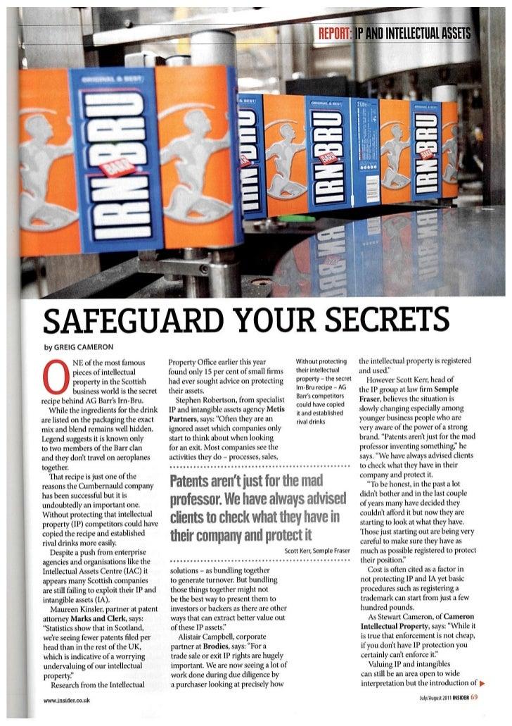 Safeguard your secrets- Business Insider - July/Aug 2011