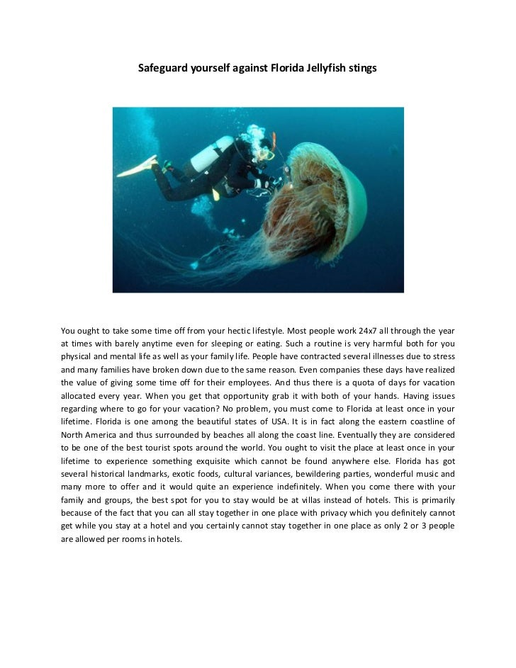 Safeguard yourself against Florida Jellyfish stingsYou ought to take some time off from your hectic lifestyle. Most people...
