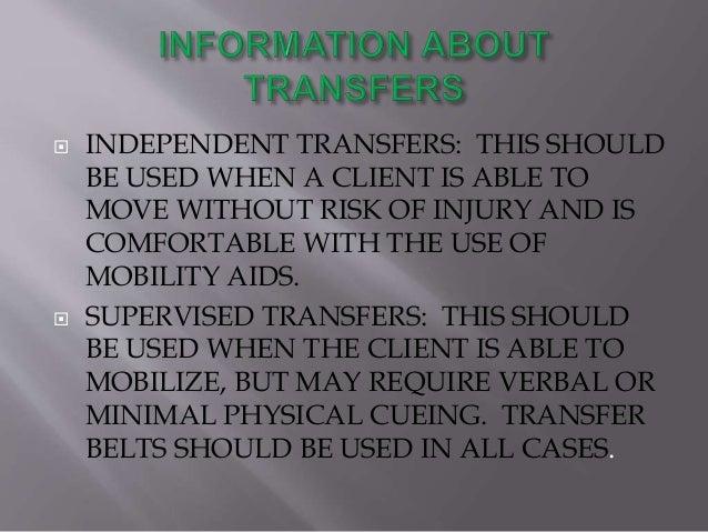stand pivot transfer instructions