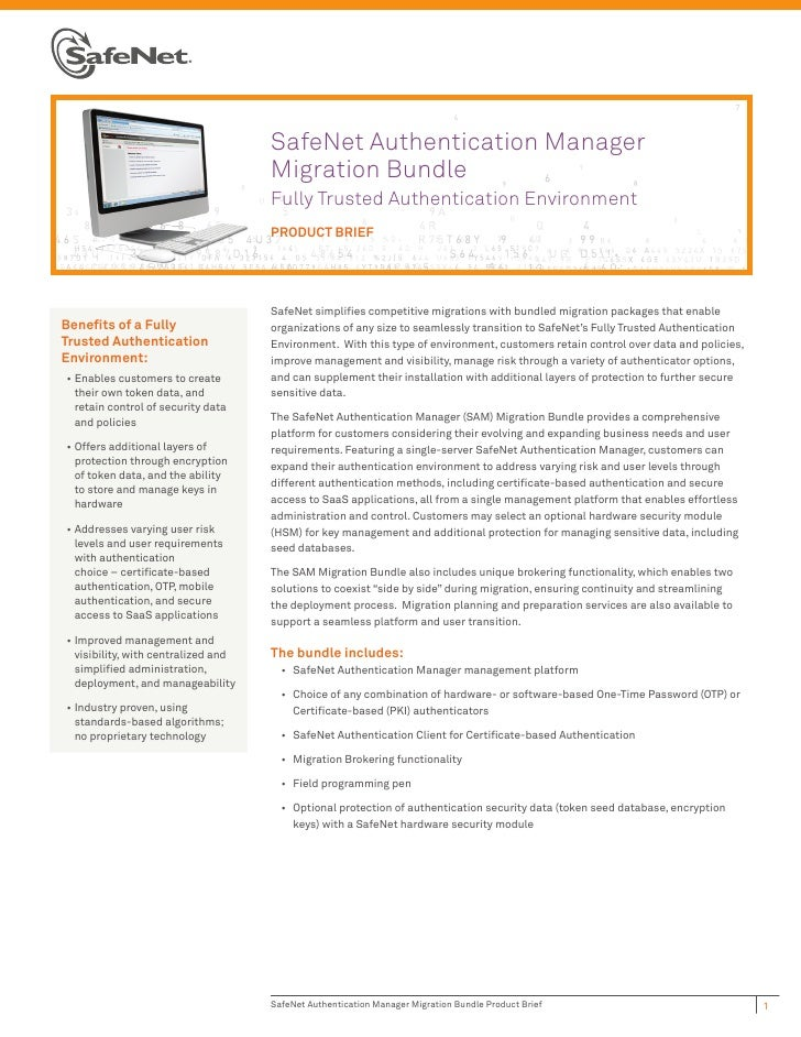 SafeNet Authentication Manager                                      Migration Bundle                                      ...