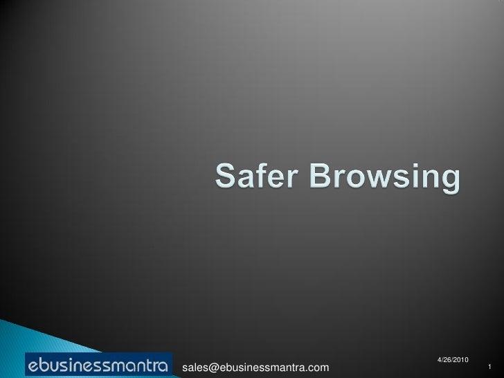 Safer browsing