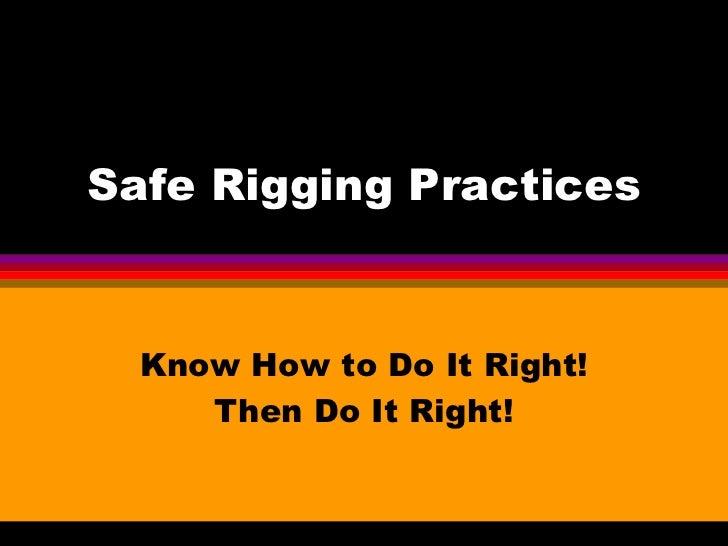 Saferigging