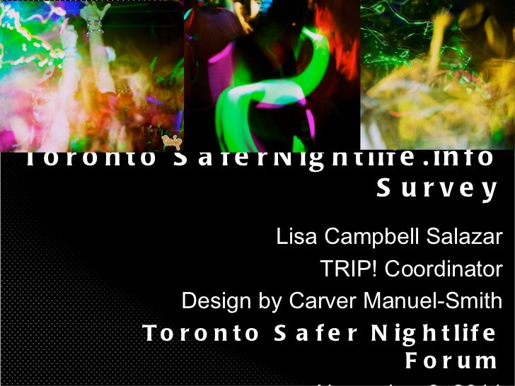 Toronto SaferNightlife.info Survey