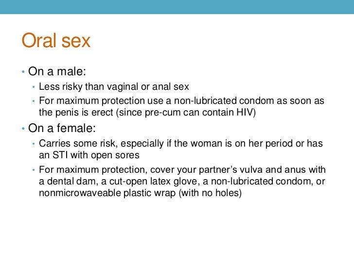 question semen anus oral sex hiv risk