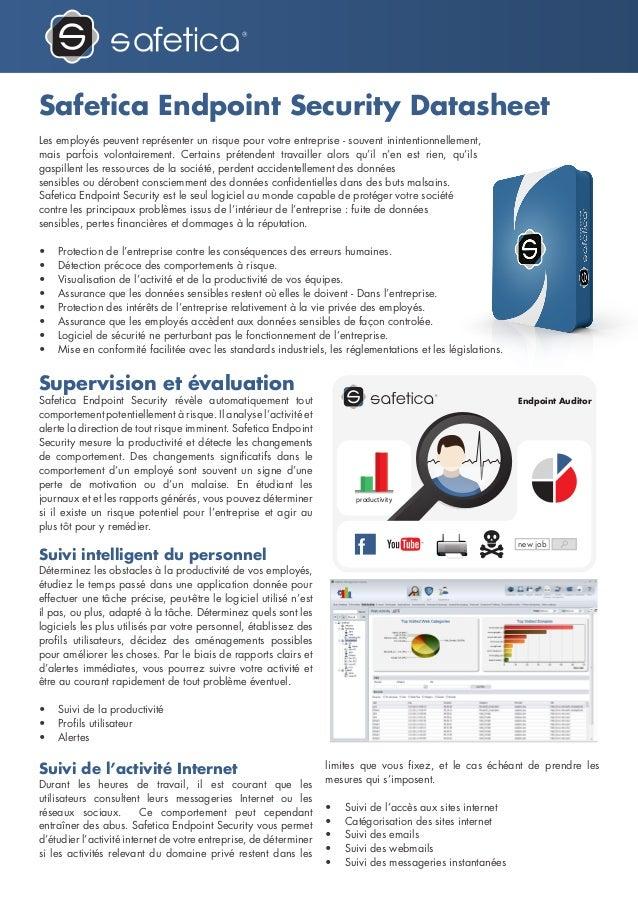 Safetica Endpoint Security Datasheet par Safetica Benelux - FR