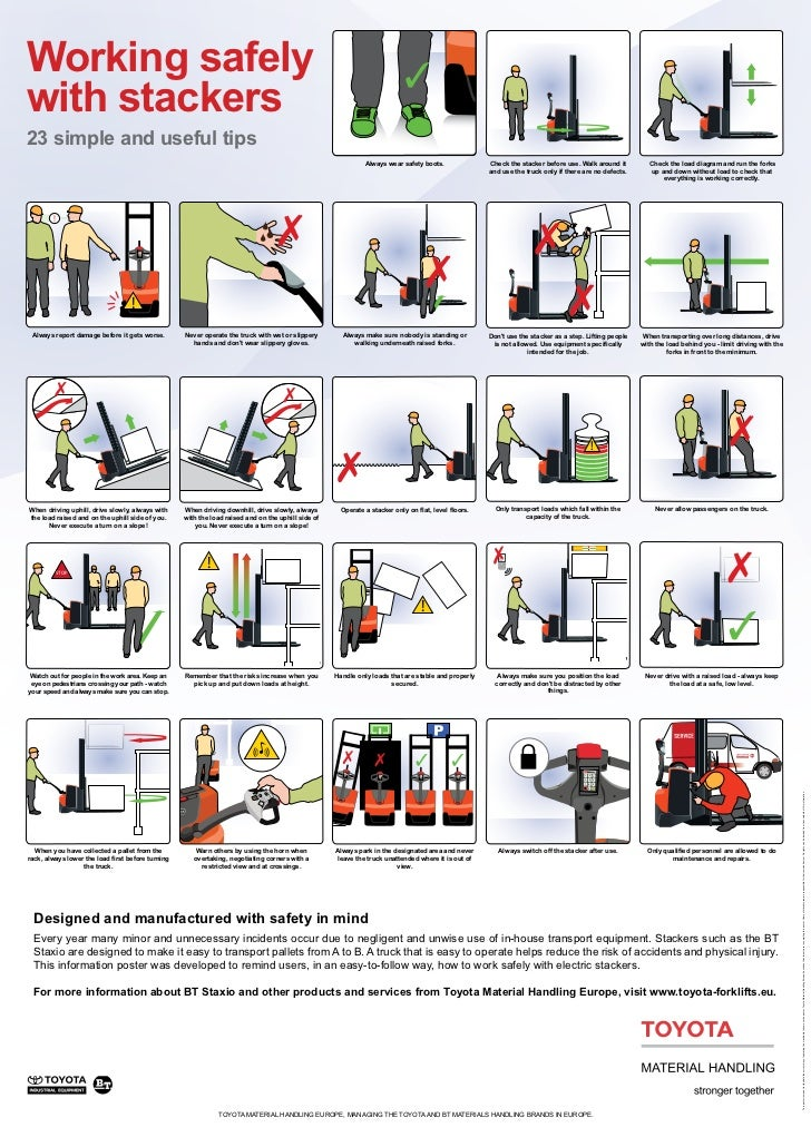 TMHE's Guidelines for Working Safely with Stacker Forklifts