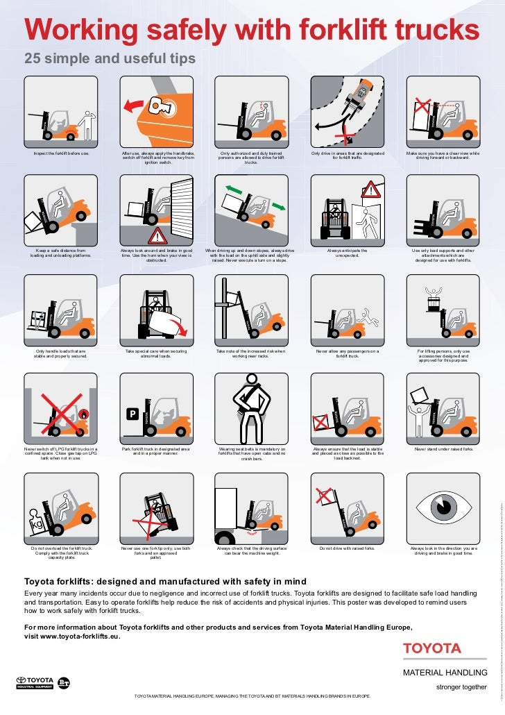 TMHE's 25 Tips for Working Safely with Counterbalanced Forklifts