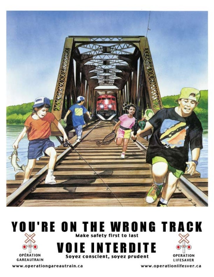 public rail safety posters