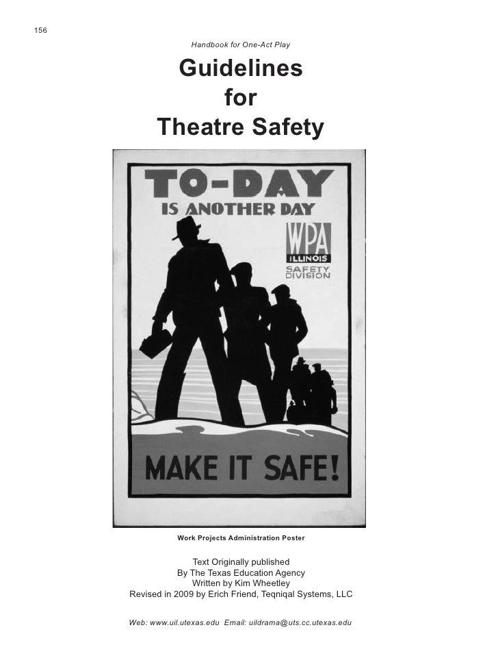 156                      Handbook for One-Act Play                 Guidelines                   for              Theatre S...