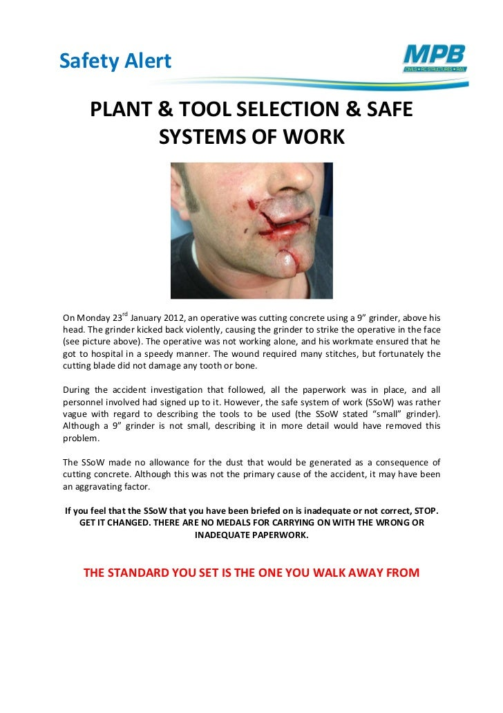 Safety Alert Plant Selection 06022012