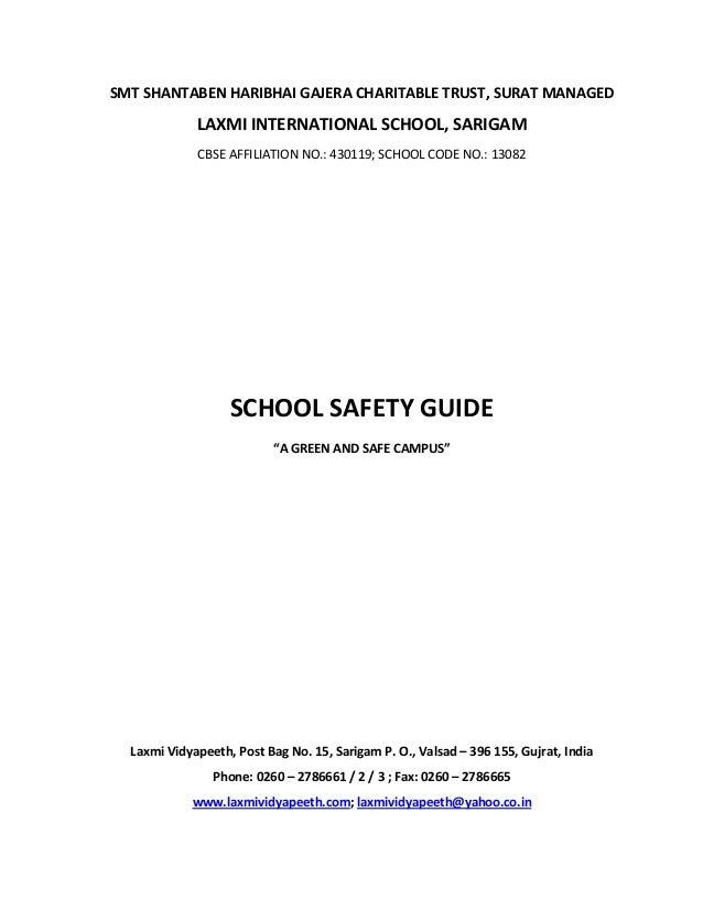 SMT SHANTABEN HARIBHAI GAJERA CHARITABLE TRUST, SURAT MANAGED             LAXMI INTERNATIONAL SCHOOL, SARIGAM             ...