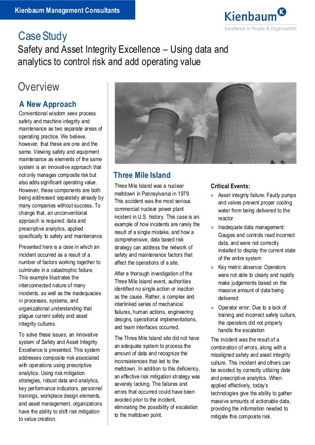 an analysis of the topic of the three mile island The three mile island nuclear power plant consisted of two separate nuclear reactors, tmi 1 and tmi 2 a series of events, starting at 4 am, escalated into the partial melting of the second nuclear reactor and the release of small amounts of radioactive gasses.