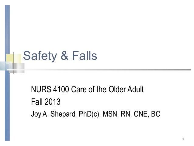 Safety & falls fall 2013 abridged