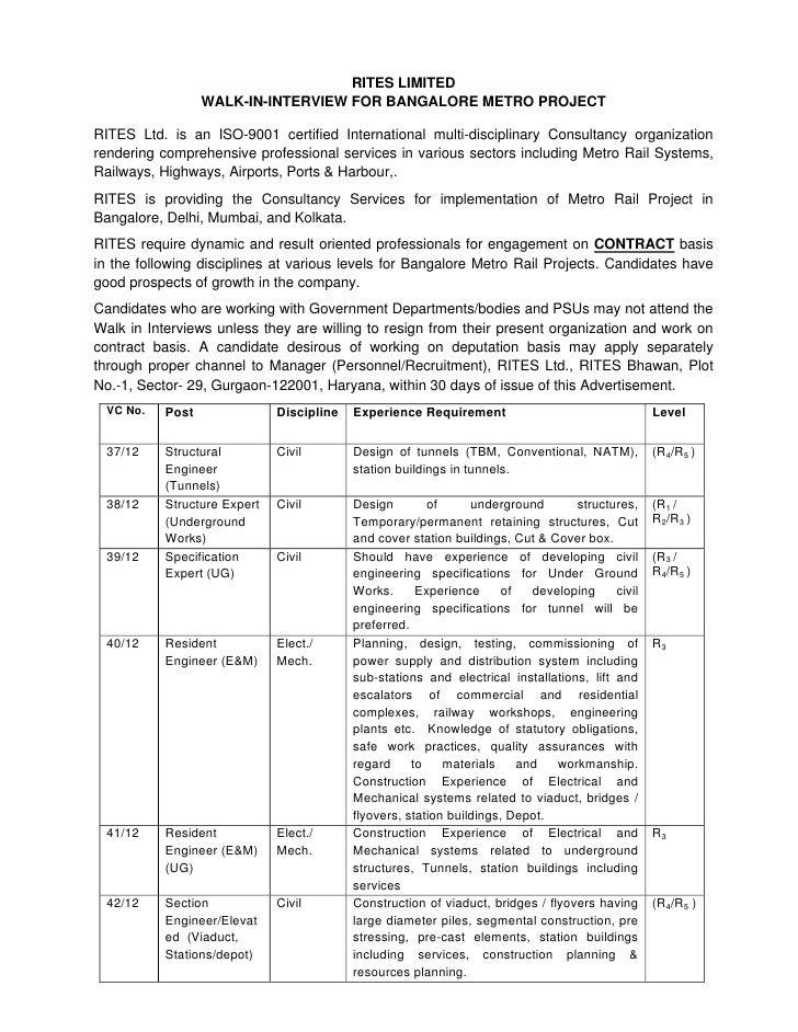 Safety govt job bangalore walk in 12