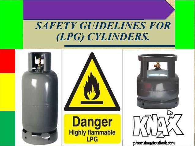 Safety guidelines for (lpg) cylinders.